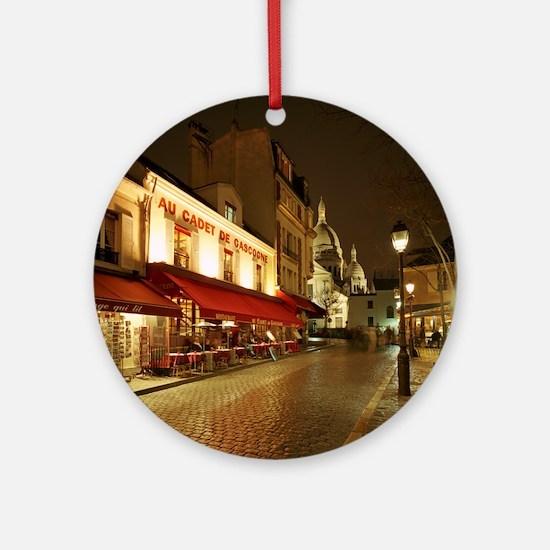 France, Paris, Montmartre Round Ornament