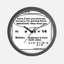 EQUATION SUBTRACT FROM BOTH S Wall Clock