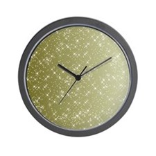 Sparkling Gold Wall Clock