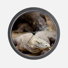 Komodo dragon with tongue sticking out Wall Clock