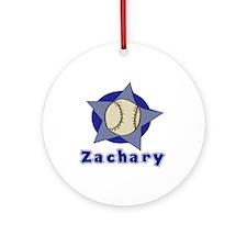 Zachary Customized Baseball Ornament (Round)