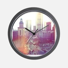Frankfurt city downtown with church in  Wall Clock