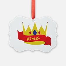 King Crown Ribbon Ornament