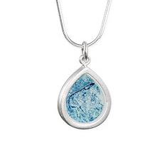 Landscape of the earth v Silver Teardrop Necklace