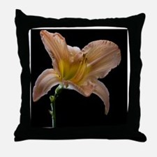 Last day lily flower of summer shot a Throw Pillow