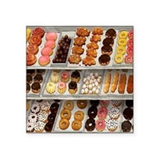 "donuts Square Sticker 3"" x 3"""