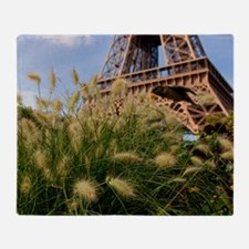 Low point of view on Eiffel Tower, P Throw Blanket