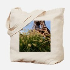 Low point of view on Eiffel Tower, Paris, Tote Bag