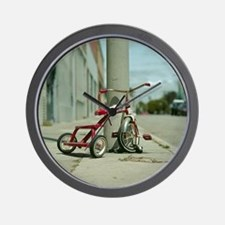 Lovely red tricycle Wall Clock