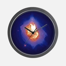 Glowing Gaseous Explosion Wall Clock