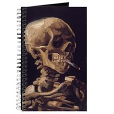Vincent Van Gogh Skull with a Burning Ciga Journal