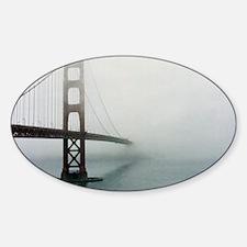 Golden gate bridge, San Francisco,  Sticker (Oval)