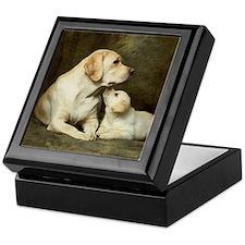 Labrador dog with her puppy Keepsake Box