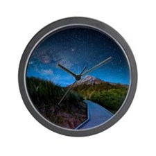 Mt. Ekmond at night with star light. Wall Clock