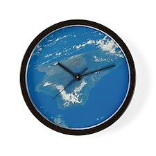 Hawaii from Space Wall Clock