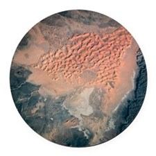 Landscape of earth viewed from sp Round Car Magnet