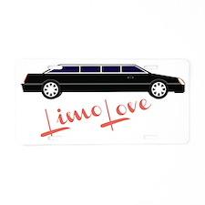 Limo Love Aluminum License Plate