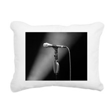 Microphone on stage Rectangular Canvas Pillow