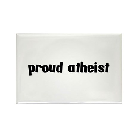 Proud Atheist Rectangle Magnet (10 pack)