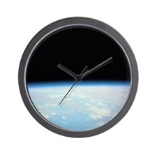 Moon Over the Earth Wall Clock