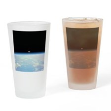 Moon Over the Earth Drinking Glass