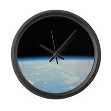 Moon Over the Earth Large Wall Clock