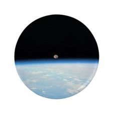 """Moon Over the Earth 3.5"""" Button"""