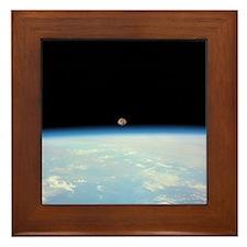 Moon Over the Earth Framed Tile