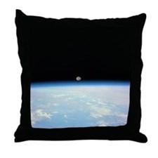 Moon Over the Earth Throw Pillow