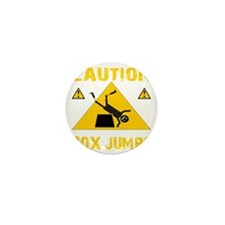 CAUTION BOX JUMPS - BLACK Mini Button