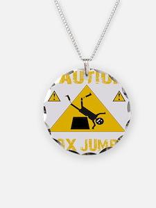 CAUTION BOX JUMPS - BLACK Necklace