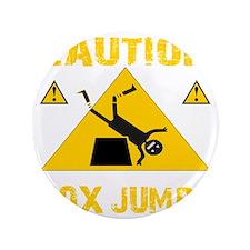 """CAUTION BOX JUMPS - BLACK 3.5"""" Button"""