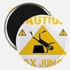 CAUTION BOX JUMPS - BLACK Magnet
