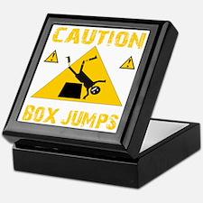 CAUTION BOX JUMPS - BLACK Keepsake Box
