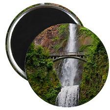 Multnomah Waterfall at Oregon. Columbia Riv Magnet