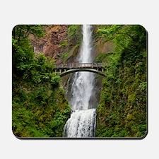 Multnomah Waterfall at Oregon. Columbia  Mousepad