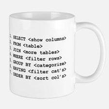 """I Speak SQL"" & SELECT Large Mugs"