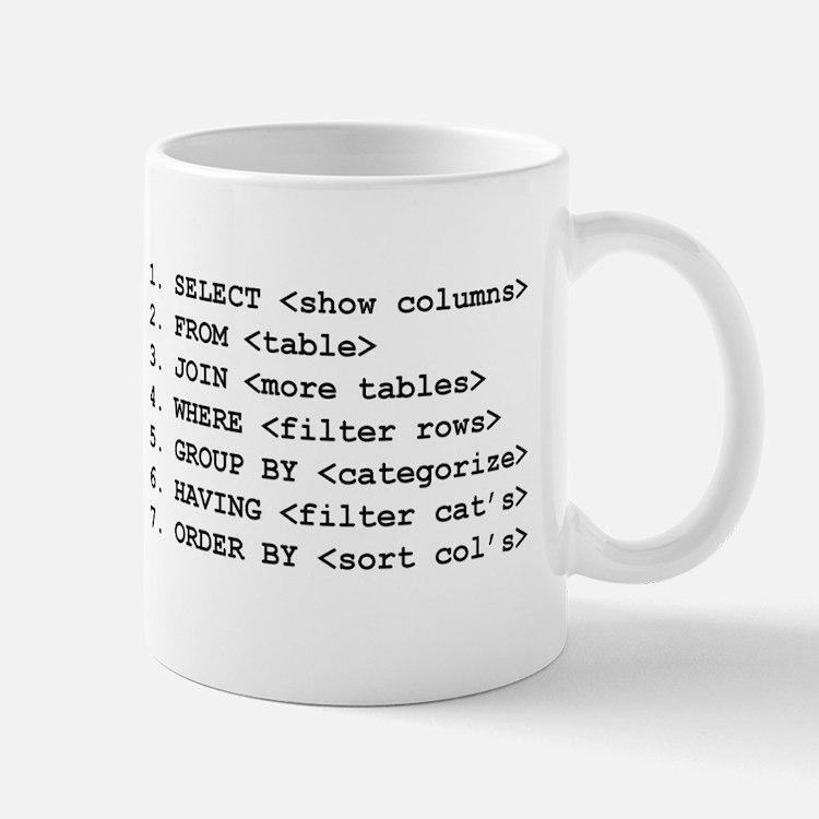 """I Speak SQL"" & SELECT Large Mugs"