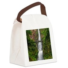 Multnomah Waterfall at Oregon. Co Canvas Lunch Bag