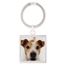 Jack Russell Terrier Square Keychain