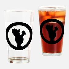 The Drunken Bear Drinking Glass