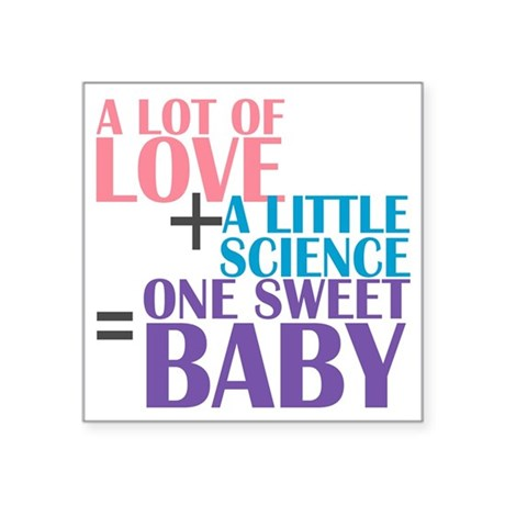 "IVF Baby Square Sticker 3"" x 3"""