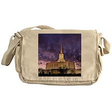 Jordan River Utah LDS (Mormon) Templ Messenger Bag