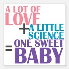 "IVF Baby Square Car Magnet 3"" x 3"""