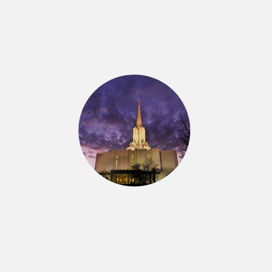 Jordan River Utah LDS (Mormon) Temple, Mini Button