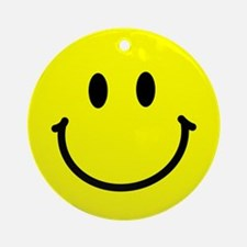 Happy Face Ornament (Round)