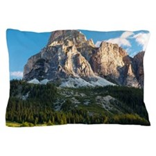 Peak in Dolomites called Sassongher at Pillow Case