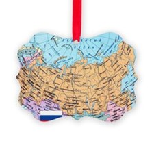 MAP OF RUSSIA Ornament