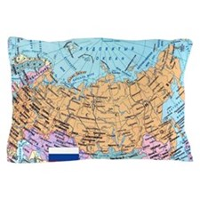 MAP OF RUSSIA Pillow Case