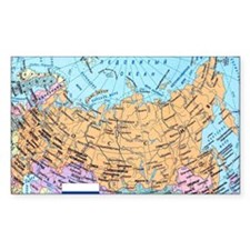 MAP OF RUSSIA Stickers